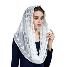 lace scarf, Tassels, Fashion, Triangles
