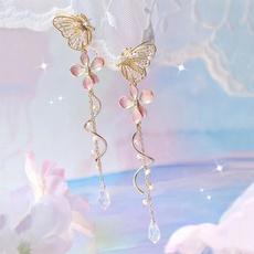 butterfly, pink, Tassels, Flowers