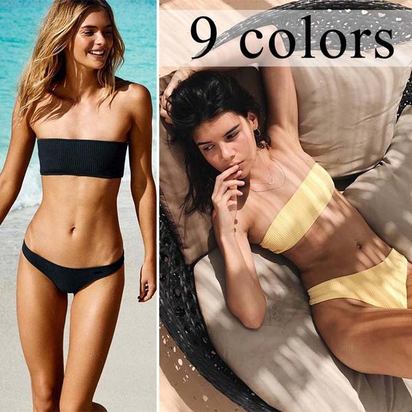 two piece swimsuit, bikini set, beach wear, Swimwear