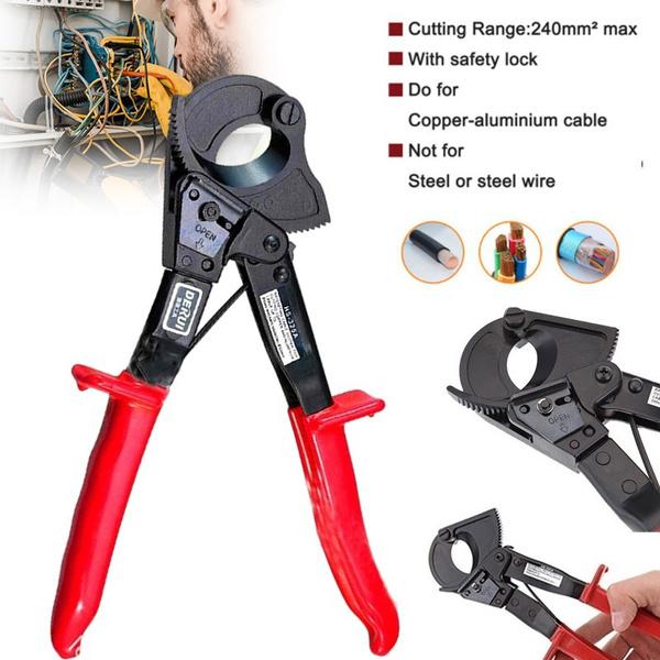 ratchetingcablecutter, ratchetscrewdriver, cablecuttertool, Aluminum