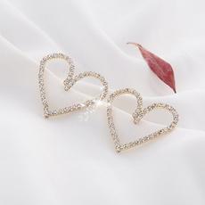 Stud Earring, Heart, Decor, Fashion