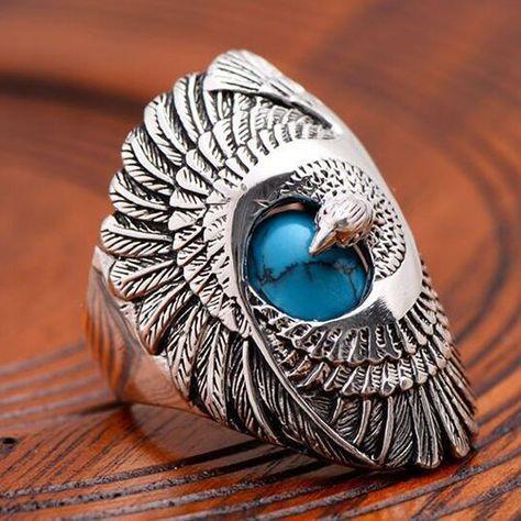 Sterling, Turquoise, DIAMOND, wedding ring