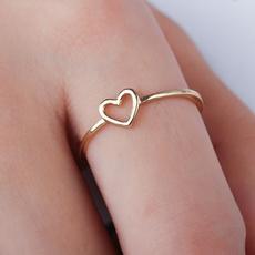 Couple Rings, Heart, 18k gold, Love