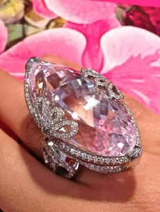 Sterling, pink, Silver Jewelry, DIAMOND