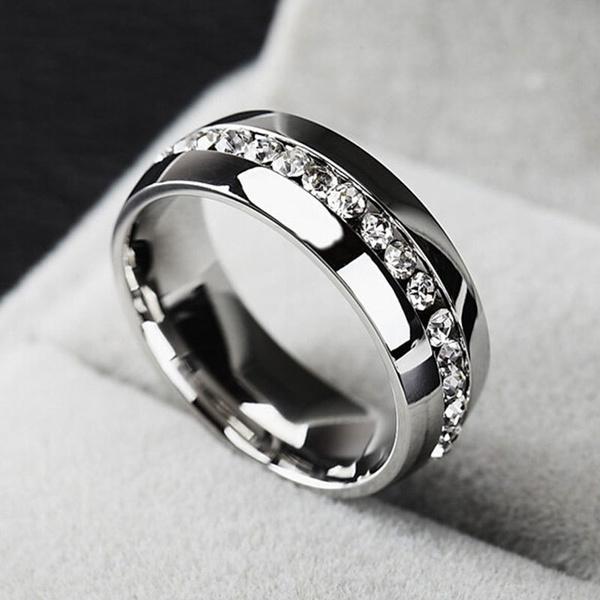 Steel, Stainless, DIAMOND, Jewelry