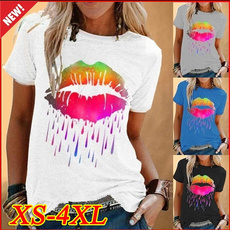 Summer, Plus Size, Colorful, short sleeves