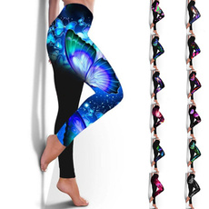 butterfly, Fitness, Plus Size, pants