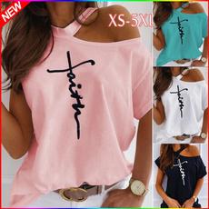 Summer, Fashion, Women Blouse, short sleeves