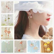 Summer, Tassels, Flowers, Jewelry