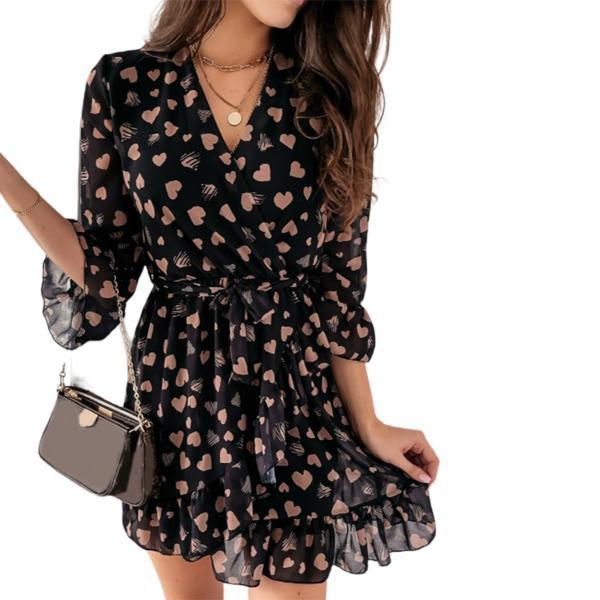 Heart, Outdoor, chiffon, ladies dress