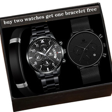 quartz, business watch, Stainless Steel, Watch