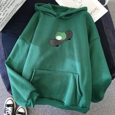 cartoon sweaters, Plus Size, hooded, Sleeve