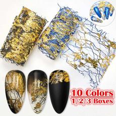 Nails, nail stickers, art, gold