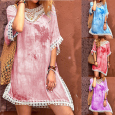 Plus Size, Lace, tiedyedre, sundress