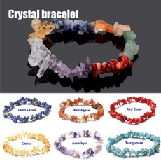 Crystal Bracelet, Turquoise, Jewelry, Chips