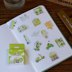 Mini, Flowers, labelsticker, Stickers