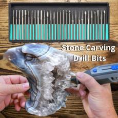Steel, Wood, diamondbitsforstone, carvingbitsset