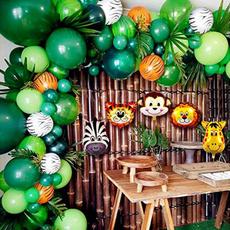 letterballoon, Decor, junglesafari, leaf
