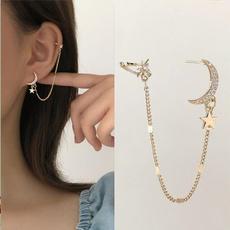 moonearring, Tassels, Star, Jewelry