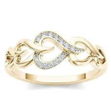 Heart, goldringsforwomen, wedding ring, gold