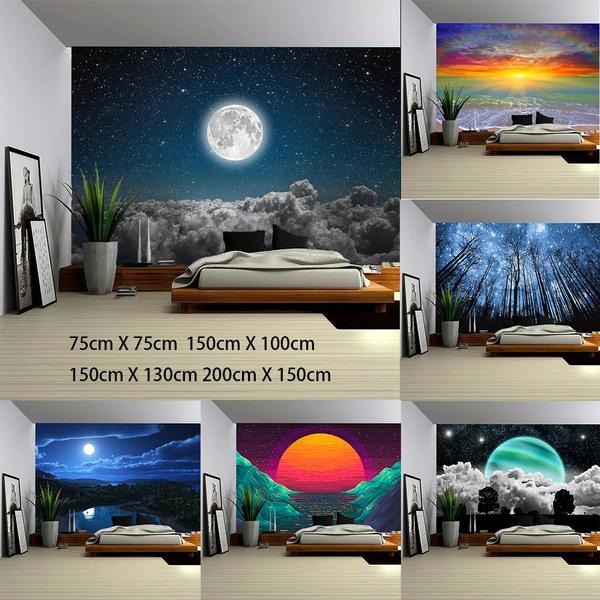 bedroom, decorativecloth, Moon, livingroomdecoration