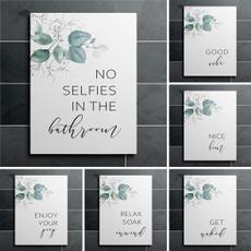 Bathroom, calligraphy, art, Gifts