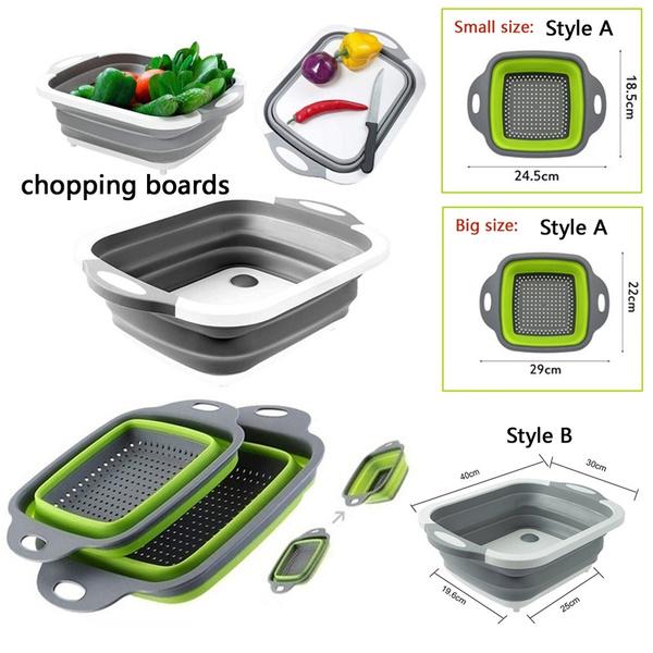 vegetablebasket, Kitchen & Dining, multifunctionalcuttingboard, Meat