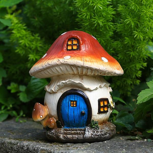 art, Home Decor, Mushroom, house