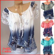 blouse, printedtop, Plus Size, Floral