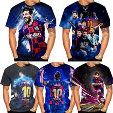 Mens T Shirt, partytshirt, Necks, Messi