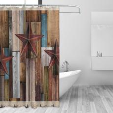 brown, Star, polyesterfabricshowercurtain, Hotel