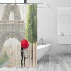 Home Decor, polyesterfabricshowercurtain, waterproofshowercurtain, Bathroom