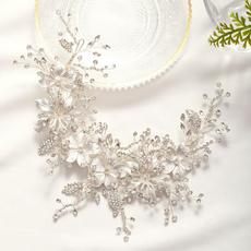 bridalheadband, partyheadband, Flowers, leaf
