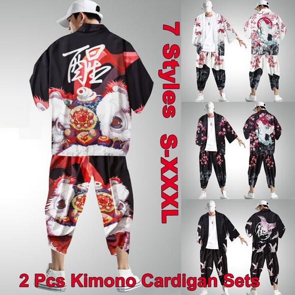 kimonorobemen, japanesekimonoformen, pants, menskimonoshirt