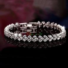 Sterling, Crystal Bracelet, DIAMOND, 925 sterling silver