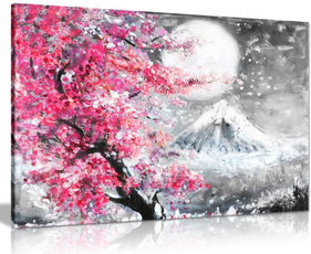 pink, canvaswallart, paintingcanva, cherryblossom