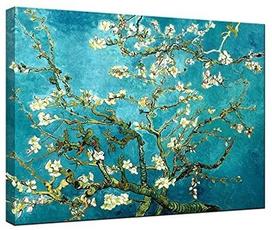 bedroom, paintingcanvaspack, canvaswallart, Almonds
