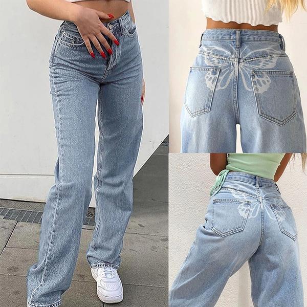 butterfly, trousers, jeansforwoman, pantsforwomen