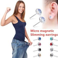 Steel, Fashion, stainless steel earrings, magneticneedle