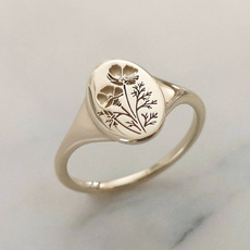 Flowers, Jewelry, gold, Engagement Ring