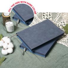 blankbook, Blues, leathernotebook, leather