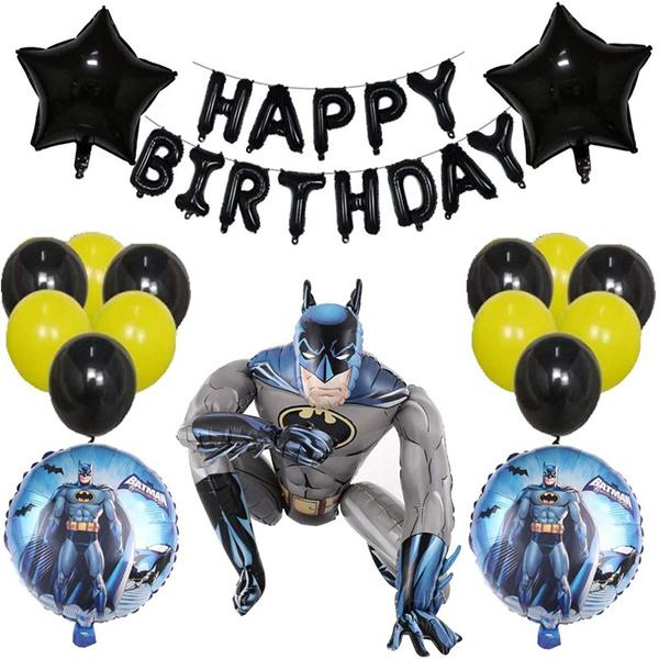childrenspartyballoon, batmanballoon, batmanpartysupplie, batmanbanner