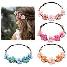 Women, Flowers, Garland, flowerhairband