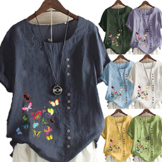 butterfly, Tops & Tees, Plus Size, Summer