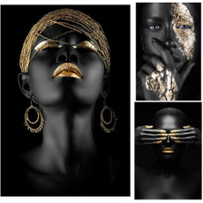 africanwomanposterprint, printpainting, Office, Posters