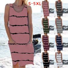 Summer, dressesforwomen, Dress, short sleeves