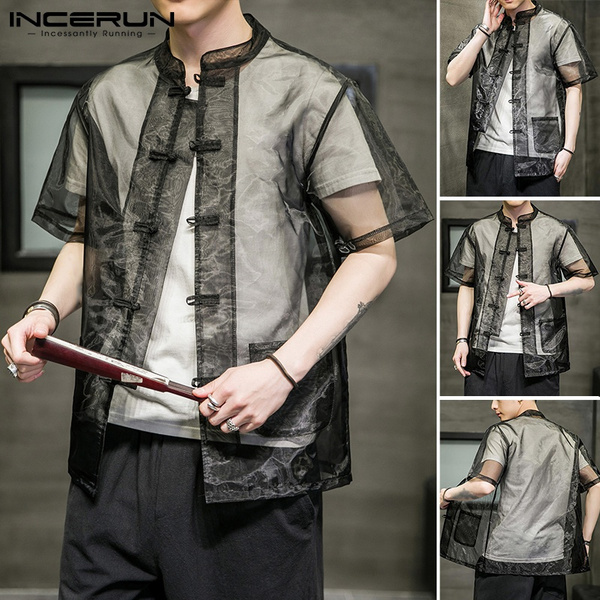 sunproof, Mens T Shirt, Plus Size, chinesebutton