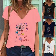 Summer, Fashion, shirtforwomen, Graphic T-Shirt