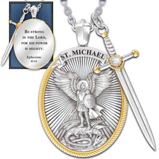 925 sterling silver necklace, Sterling, shield, Angel