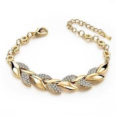 Charm Bracelet, Sterling, DIAMOND, gold bracelet